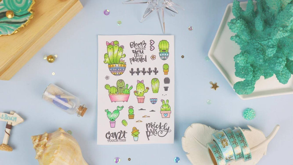 Prickly Pals - Planner Stamps by The Sassy Club