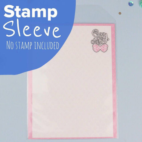 Stamp Sleeve Pack w/ Sassy Branded Card Insert (20 Qty) - Clear Stamps by The Sassy Club