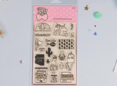 Plancation Stamp Set - Planner Stamps by The Sassy Club