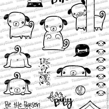 Pug-Tastic - Planner Stamps by The Sassy Club