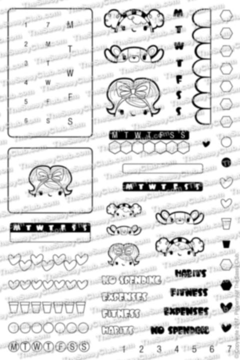 Track-it - Clear Stamps by The Sassy Club