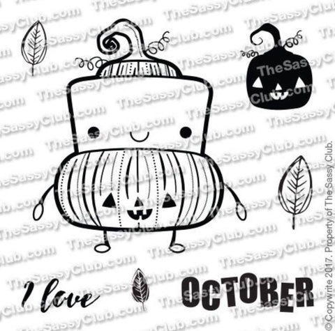 Pumpkin Mellow (3X3 Stamp Set) Planner Stamps