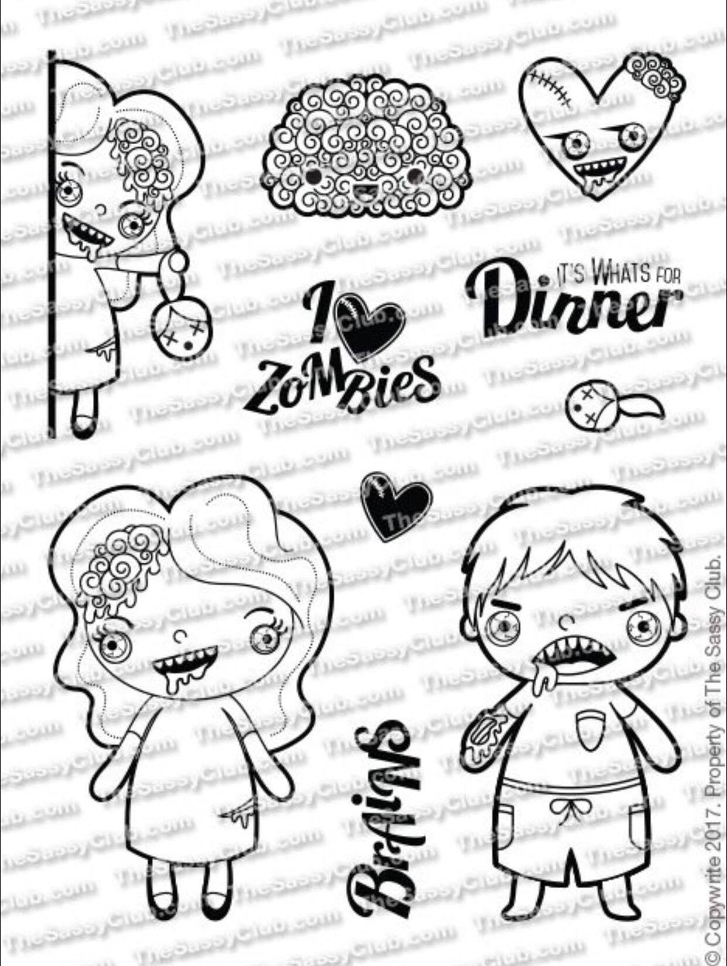 Zombies (3X4 Stamp Set) Planner Stamps