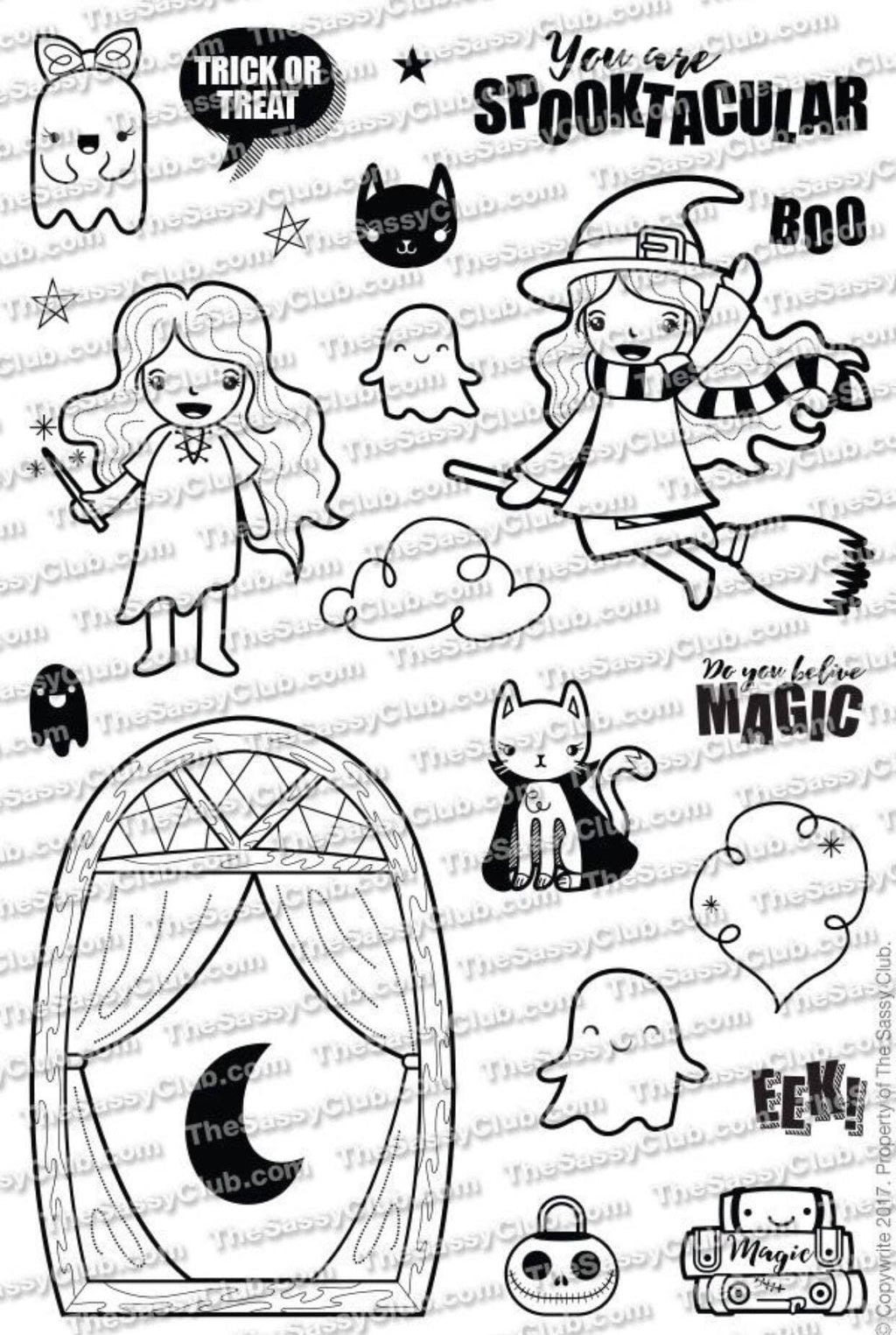 Bewitched (4X6 Stamp Set) Planner Stamps