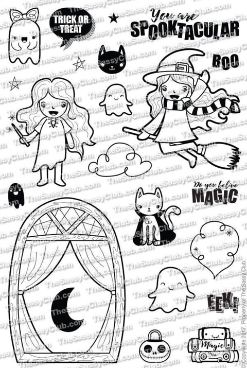 BeWitched (Retiring) - Clear Stamps by The Sassy Club