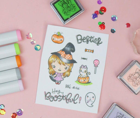 Witch Darla (3x4 Stamp Set) - Clear Stamps by The Sassy Club