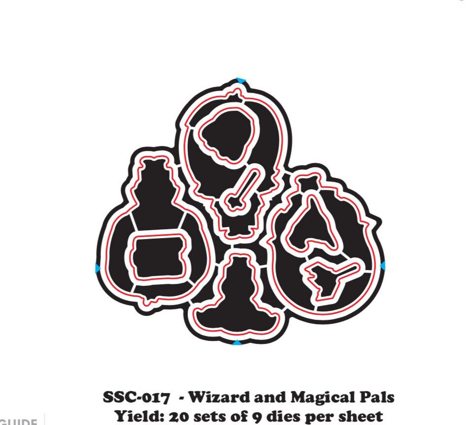 Pre- Order Magical Pals & Wizards (Die) - Clear Stamps by The Sassy Club