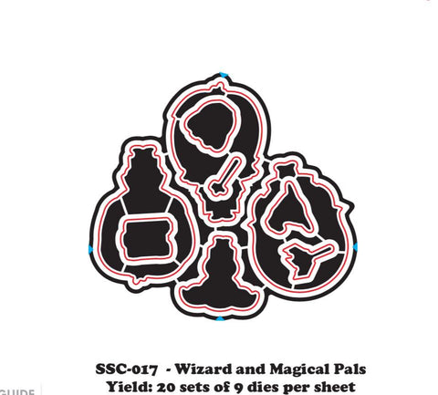 Magical Pals & Wizards (Die) - Clear Stamps by The Sassy Club