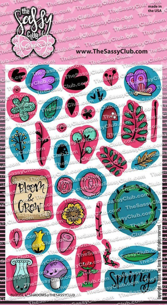 Blooms & Shrooms (Retiring) - Clear Stamps by The Sassy Club