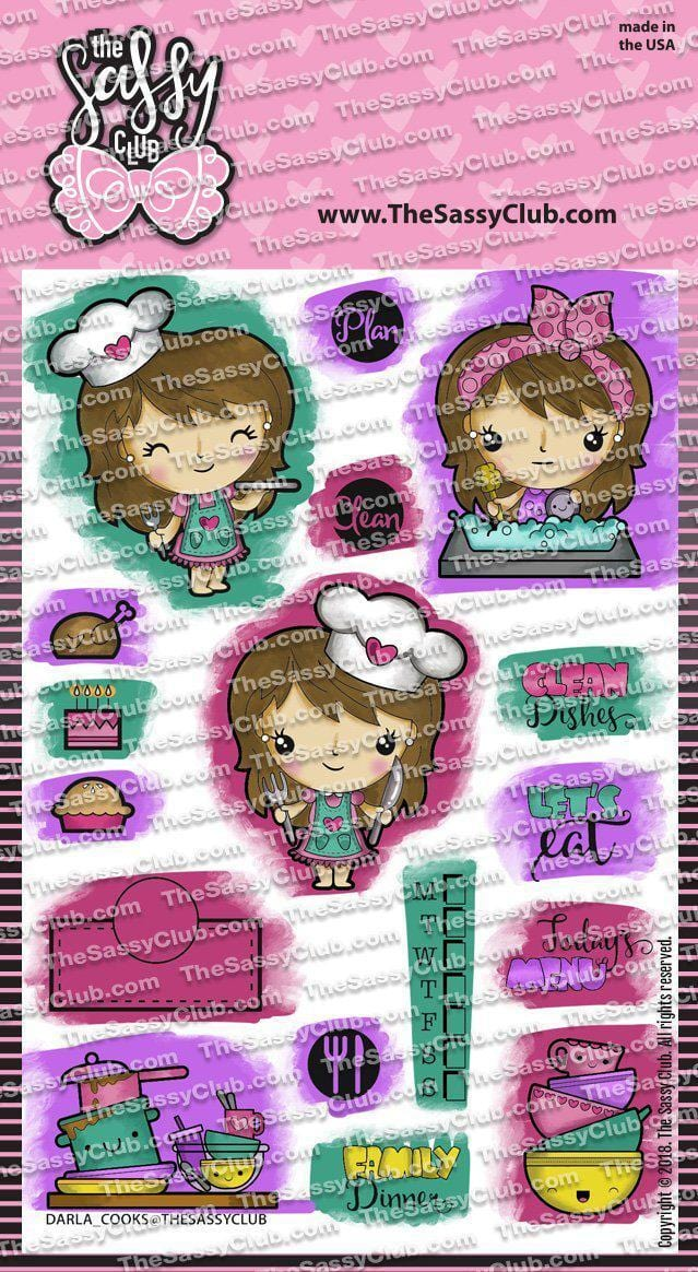 Darla Cooks - Clear Stamps by The Sassy Club