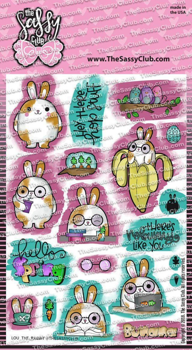Lou the Rabbit - Clear Stamps by The Sassy Club