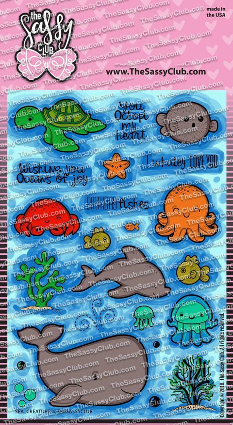 Sea Creatures - Clear Stamps by The Sassy Club