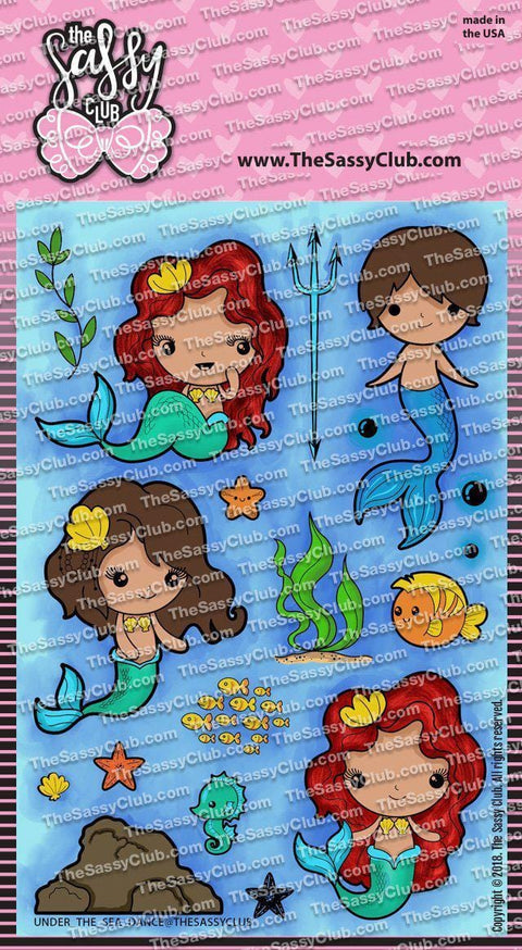 Under The Sea - Clear Stamps by The Sassy Club