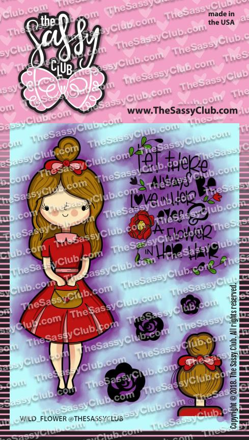 Wild Flower (Retiring) - Clear Stamps by The Sassy Club