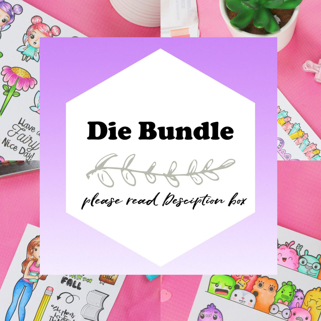 Die Bundle (Please Read Description) - Clear Stamps by The Sassy Club