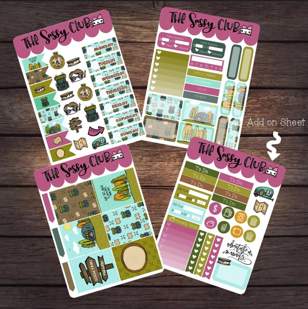 Sticker Sheet 4x6 - Clear Stamps by The Sassy Club