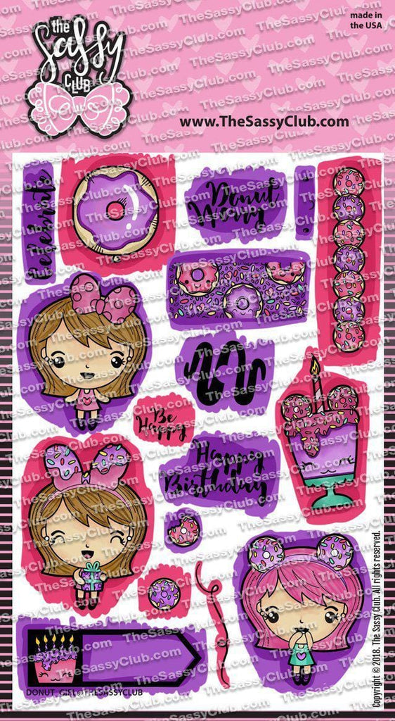 Donut Girl - Clear Stamps by The Sassy Club