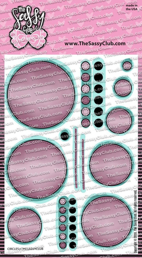 Stitched Circles - Clear Stamps by The Sassy Club