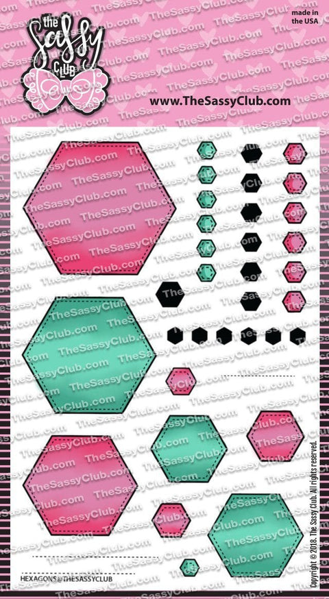 Hexagons - Clear Stamps by The Sassy Club