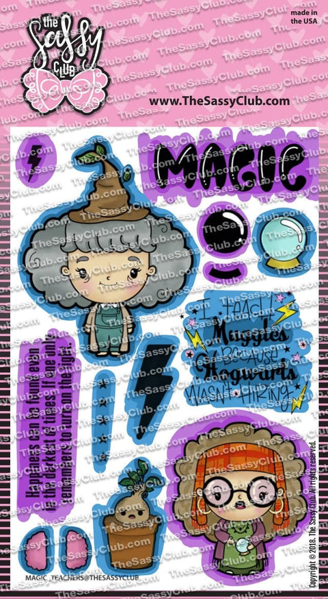 Magical Teachers - Clear Stamps by The Sassy Club