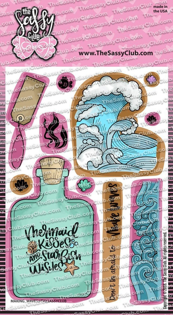 Making Waves - Clear Stamps by The Sassy Club