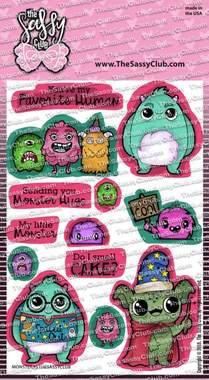 Monsters - Clear Stamps by The Sassy Club