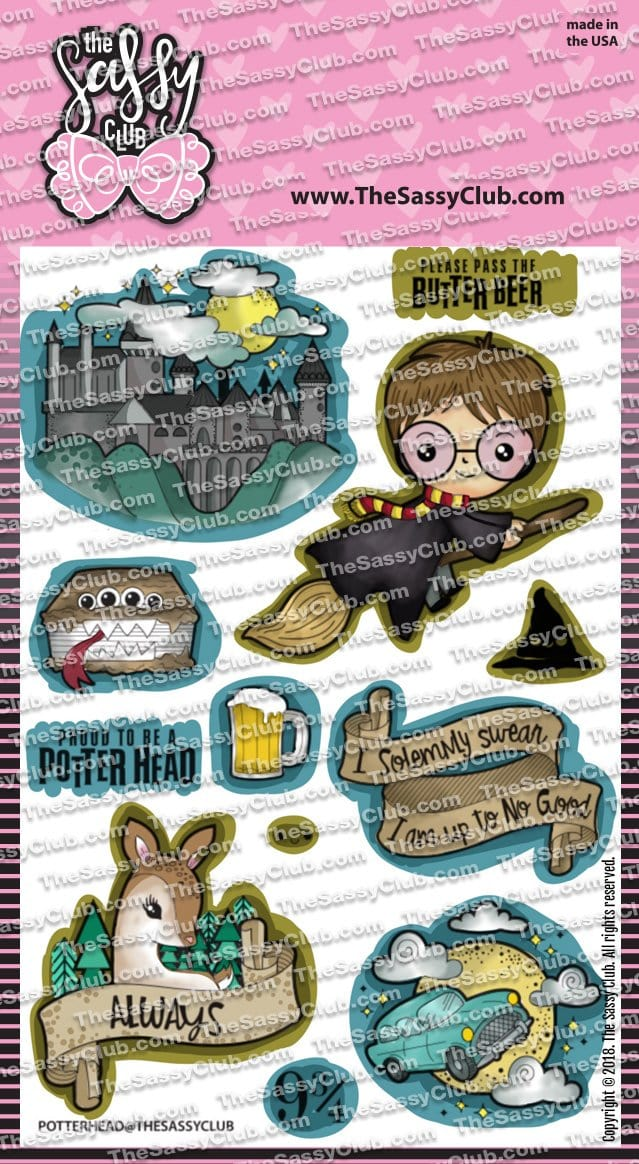 Potter Head - Clear Stamps by The Sassy Club