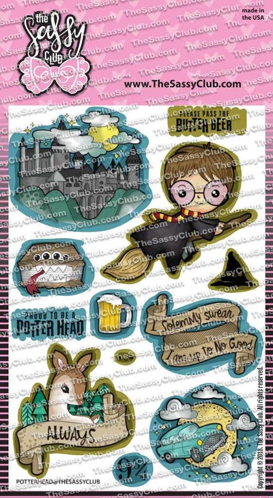 Potter Head (ships after 16th) - Clear Stamps by The Sassy Club