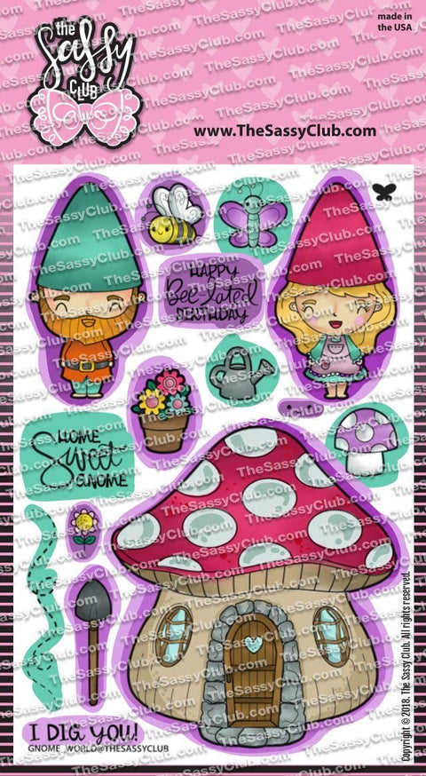 Gnome World - Clear Stamps by The Sassy Club