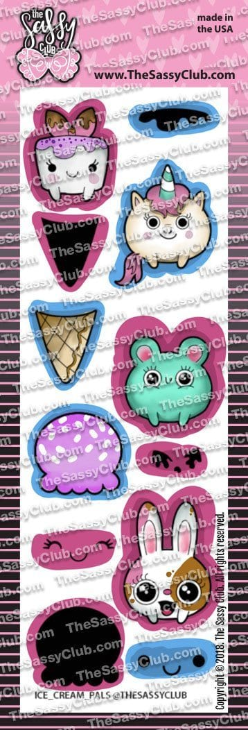 Ice cream pals - Clear Stamps by The Sassy Club