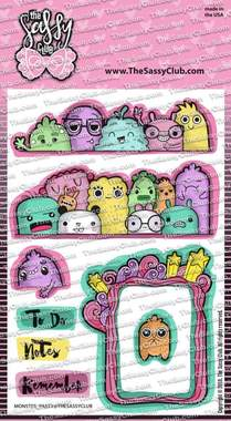 Monster Party - Clear Stamps by The Sassy Club