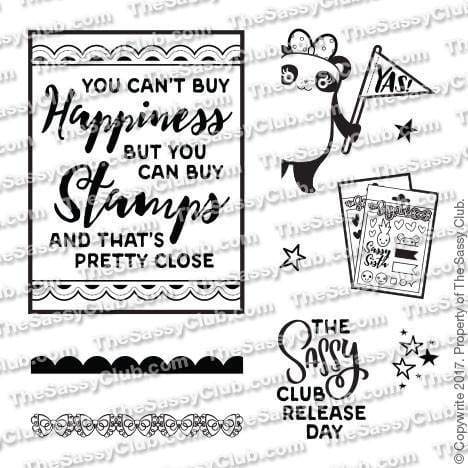 Sassy Panda - Clear Stamps by The Sassy Club