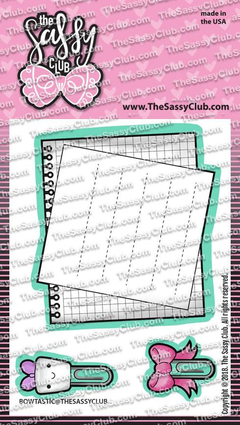 Bowtastic - Clear Stamps by The Sassy Club