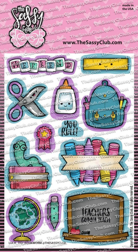 Bookworm - Clear Stamps by The Sassy Club