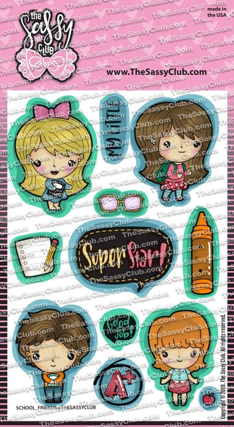 School Friends - Clear Stamps by The Sassy Club