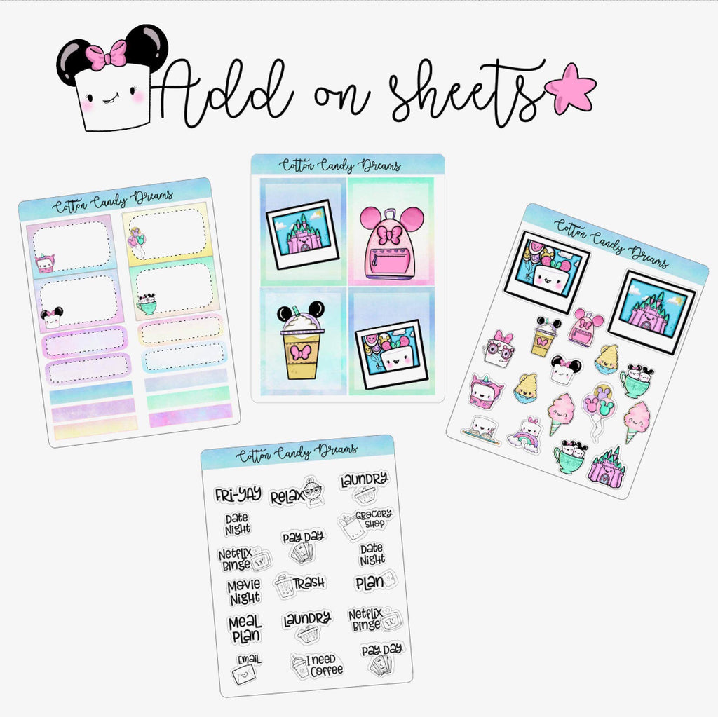 Add on Sticker Sheets (Read Description) - Clear Stamps by The Sassy Club