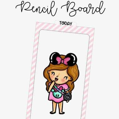 Sassy Girl Pencil Board (Digital Download) - Clear Stamps by The Sassy Club