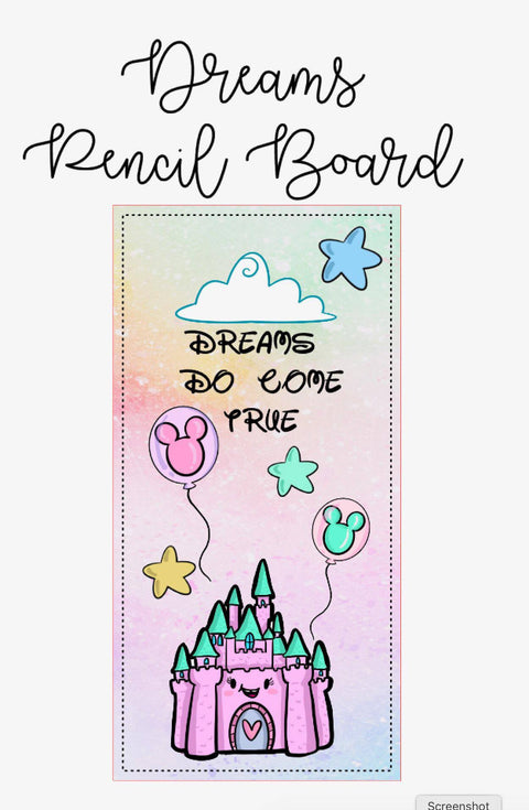 Castle Pencil Board (Digital Download) - Clear Stamps by The Sassy Club