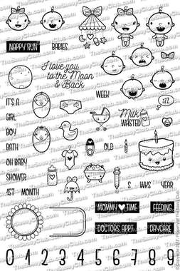 Oh Baby (Not in the Bundle) - Planner Stamps by The Sassy Club