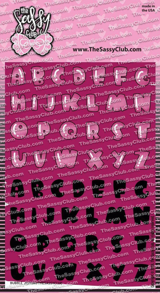 Bubble Alpha - Clear Stamps by The Sassy Club