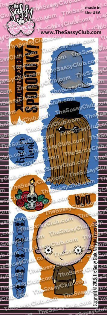 Kooky (2x6 Stamp Set) - Clear Stamps by The Sassy Club