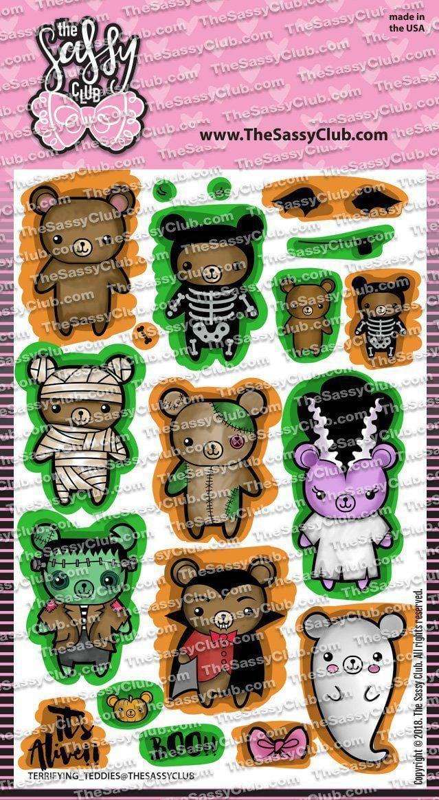 Terrifying Teddies - Clear Stamps by The Sassy Club