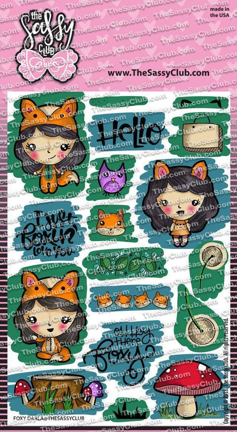 Foxy Darla - Clear Stamps by The Sassy Club