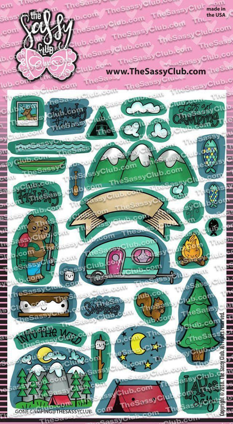 Gone Camping - Clear Stamps by The Sassy Club
