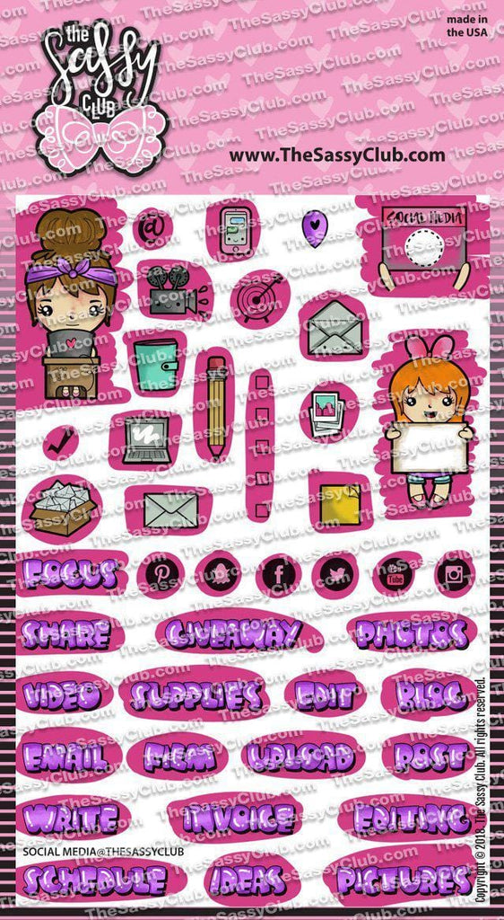 Social Media - Clear Stamps by The Sassy Club
