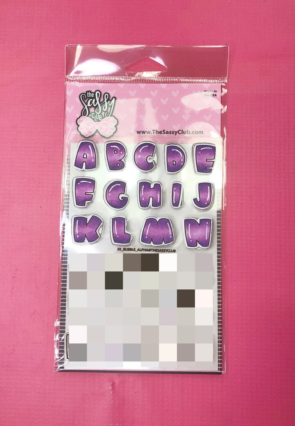 Bubble Alpha 2x - Clear Stamps by The Sassy Club
