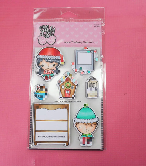 Elfs on a Shelf - Clear Stamps by The Sassy Club