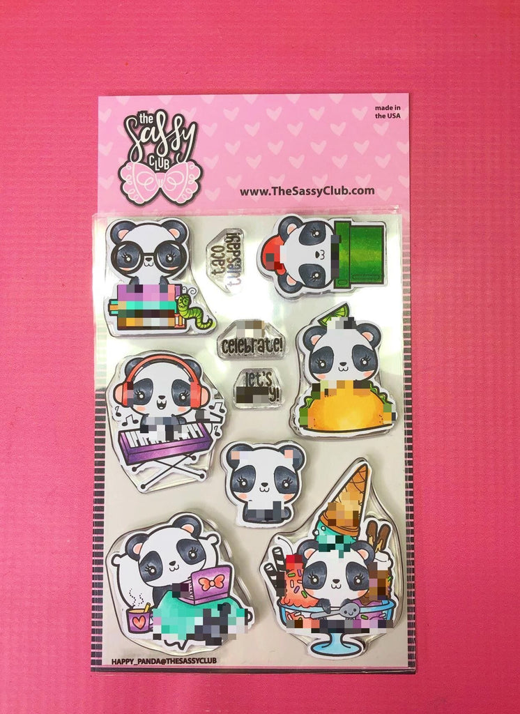 Happy Pandas - Clear Stamps by The Sassy Club