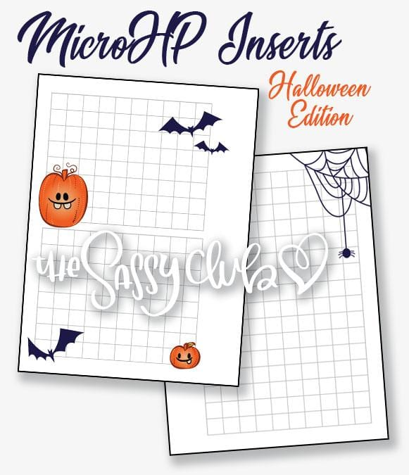 Micro HP Inserts (Halloween Theme) - Clear Stamps by The Sassy Club