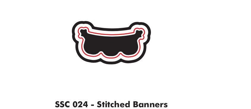 Stitched Banner die - Clear Stamps by The Sassy Club